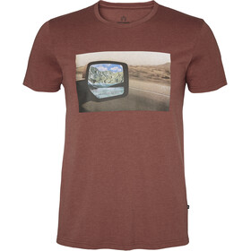 North Bend Vertical Camiseta Hombre, red clay